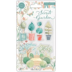 (CCSTMP061)Craft Consortium Secret Garden Topiary Clear Stamps