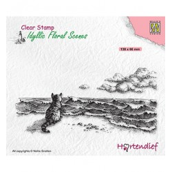 (IFS042)Nellie`s Choice Clearstamp - Idyllic Floral Missing you