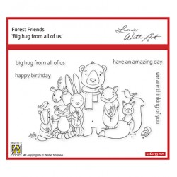 (FFECS002)Nellie`s Choice Clearstamp - Set 2: Big hug from all of us
