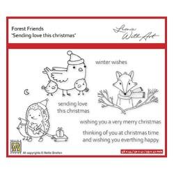 (FFECS004)Nellie`s Choice Clearstamp - Set 4: Sending love this Christmas
