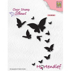 (SIL094)Nellie`s Choice Clearstamp - Butterflies