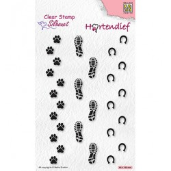 (SIL095)Nellie`s Choice Clearstamp - Footprints
