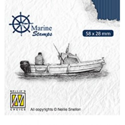 (VCS001)Nellie`s Choice Clearstamp - Maritime Boat