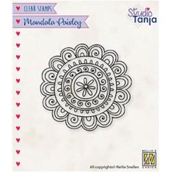 (CSMAN009)Nellie`s Choice Clearstamp - Mandala's Paisley flower