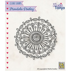 (CSMAN010)Nellie`s Choice Clearstamp - Mandala's Paisley flower 2