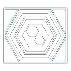 (JHD-CUT-1005)Julie Hickey Die - Hexagon