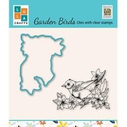 (HDCS010)Snellen Design Clearstamp +dies  - Garden bird-2