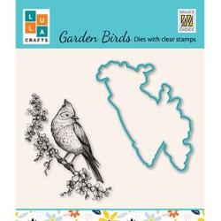 (HDCS011)Snellen Design Clearstamp +dies  - Garden bird-3