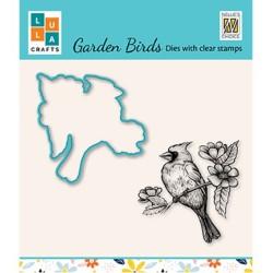 (HDCS012)Snellen Design Clearstamp +dies  - Garden bird-4