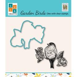 (HDCS014)Snellen Design Clearstamp +dies  - Garden bird-6