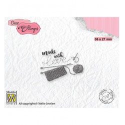 (DTCS033)Nellie's Choice Clear stamps Text Made with love-2