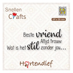 (DTPCS006)Nellie's Choice Clear stamps Text Best vriend Altijd trouw Wat is het stil..