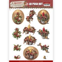 (SB10565)3D Push Out - Amy Design - History of Christmas - Christmas Candles