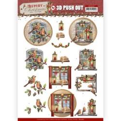 (SB10567)3D Push Out - Amy Design - History of Christmas - Christmas Window