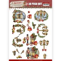 (SB10568)3D Push Out - Amy Design - History of Christmas - Christmas Lanterns