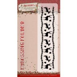 (ADEMB10011)Embossing Folder - Amy Design - History of Christmas