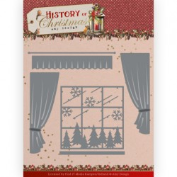 (ADD10243)Dies - Amy Design - History of Christmas - Window with Curtains