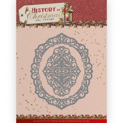 (ADD10245)Dies - Amy Design - History of Christmas - Lacy Christmas Oval