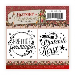 (ADCS10076)Mini Clear Stamps Set - Amy Design - History of Christmas