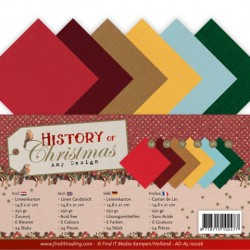 (AD-A5-10026)Linen Cardstock Pack - A5 - Amy Design - History of Christmas