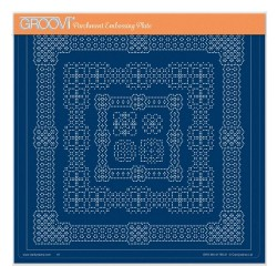 (GRO-PA-41778-24)Groovi Plate A4 EMBOSSED PATTERNS