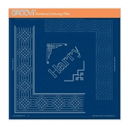 (GRO-GG-41729-24)Groovi Plate A4 PIERCING GRID PRINCE HARRY LACE DUET