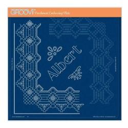(GRO-GG-41728-24)Groovi Plate A4 PIERCING GRID PRINCE ALBERT LACE DUET