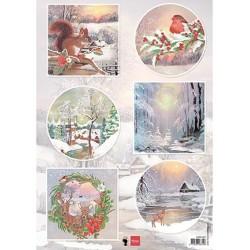 (EWK1287)Winter wishes - Squirrel