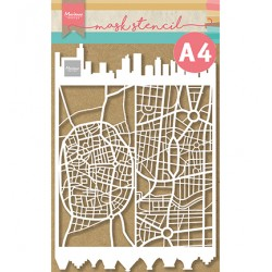 (PS8098)Marianne Design Craft stencil: Slimline city