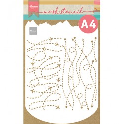 (PS8099)Marianne Design Craft stencil: Slimline travel