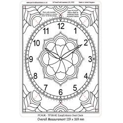 (TP3644E)PCA-UK® - EasyEmboss Oval Clock