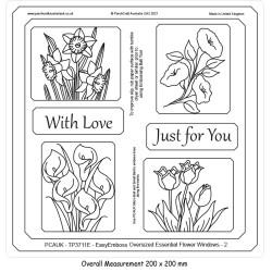 (TP3711E)PCA-UK® - EasyEmboss Oversized Four Flowers 2