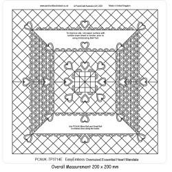 (TP3714E)PCA-UK® - EasyEmboss Oversized Heart Mandala