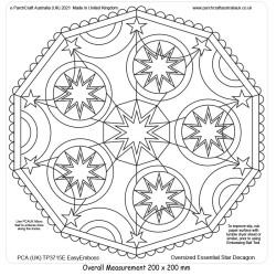 (TP3715E)PCA-UK® - EasyEmboss Oversized Star Decagon