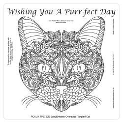 (TP3720E)PCA-UK® - EasyEmboss Tangled Cat