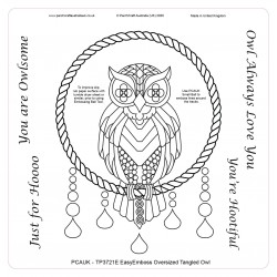 (TP3721E)PCA-UK® - EasyEmboss Tangled Owl