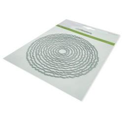 (115633/0961)CraftEmotions Big Nesting Die - deckle circles Card 150x160 - 13,2cm