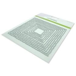 (115633/0962)CraftEmotions Big Nesting Die - deckle vierkanten Card 150x160 - 13,1cm