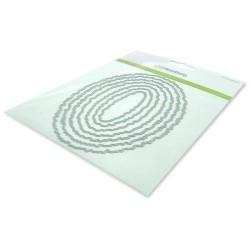 (115633/0964)CraftEmotions Big Nesting Die - deckle ovals Card 150x160 - 10,5x15cm