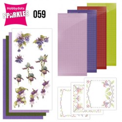 (SPDO059)Sparkles Set 59 - Precious Marieke - Purple Flowers