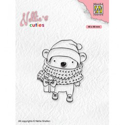 (NCCS012)Nellie`s Choice Clearstamp - Christmas Koala with parcel