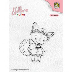 (NCCS014)Nellie`s Choice Clearstamp - Christmas Foxy Christmas lady