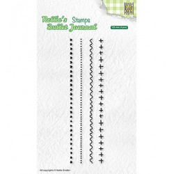 (NBJCS003)Nellie`s Choice Clearstamp - Set of borders-3
