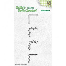 (NBJCS004)Nellie`s Choice Clearstamp - Set of corners-1