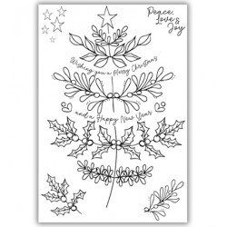 (JHE1049)Julie Hickey Clearstamp - Oh Christmas Tree