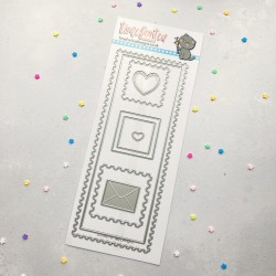 (T4T/682/Pos/Sta)Time For Tea Postage Stamp Frame Slimline Dies