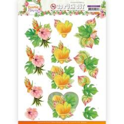 (SB10570)3D Push Out - Jeanine's Art - Exotic Flowers - Orange Flowers