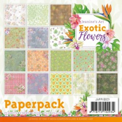 (JAPP10021)Paperpack - Jeanine's Art - Exotic Flowers