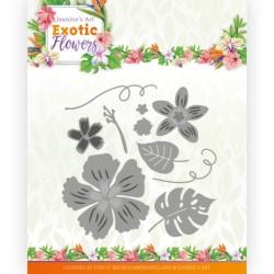 (JAD10133)Dies - Jeanine's Art - Exotic Flowers - Flowers and Leafs