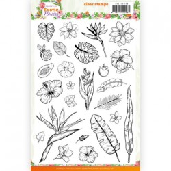 (JACS10038)Clear Stamps - Jeanine's Art - Exotic Flowers